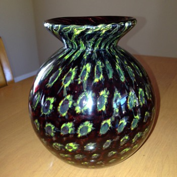 Cased decor vase - mystery - Art Glass