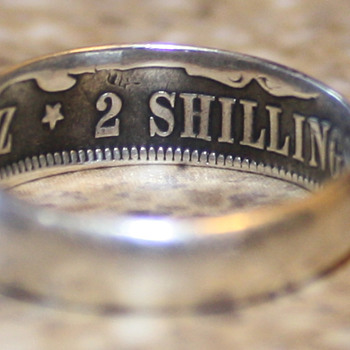 1894 South African 2 Shillings Ring - World Coins