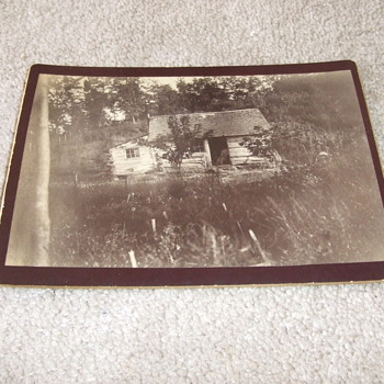 Cabinet card of Slave/ Sharecropper cabin - Photographs