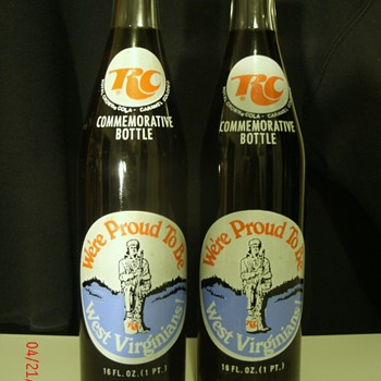 Twin commemorative RC bottles(unopened). - Bottles