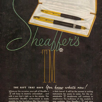 "1951 - Sheaffer's Pens ""Crest Deluxe"" Advertisement - Advertising"