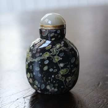 Amygdaloidal Basalt Snuff Bottle 3