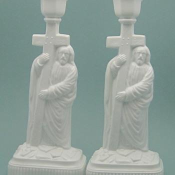 Challinor & Taylor candlesticks - Glassware