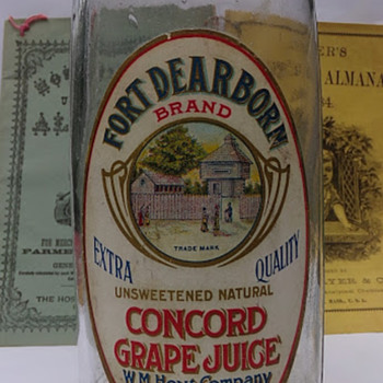 Circa 1900 Paper Label Juice