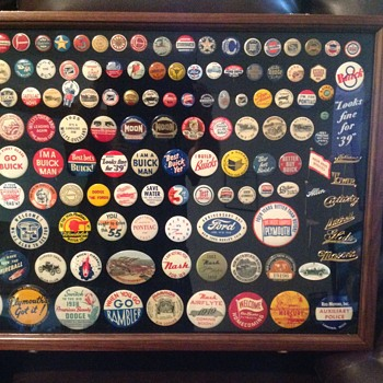 Automobile Pinback Button Collection - Medals Pins and Badges