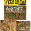 Indiana license plate collection 1913-1930