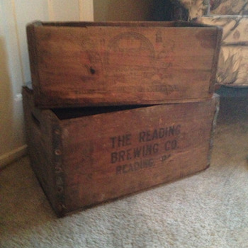 Reading Brewing Company Beer Crates