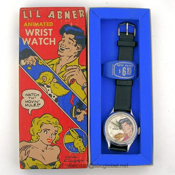 1951 New Haven Li'l Abner Moving Mule Wrist Watch w/ Box