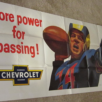 1950's Chevrolet Dealership Window Poster
