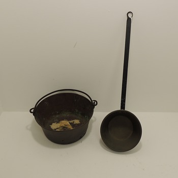 Copper Cookery with Iron Handles