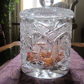 Crystal Jar Made in Czechoslovakia