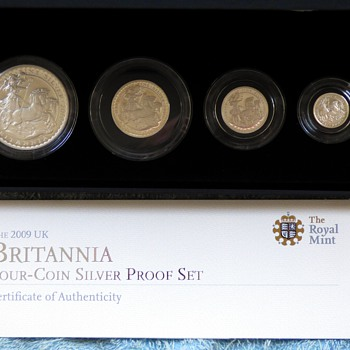 2009-royal britannia 4 coin solid silver set-the royal mint. - World Coins