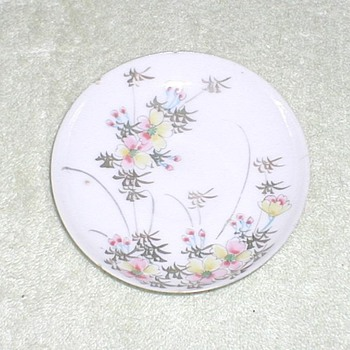 Porcelain cup saucer hand-painted floral
