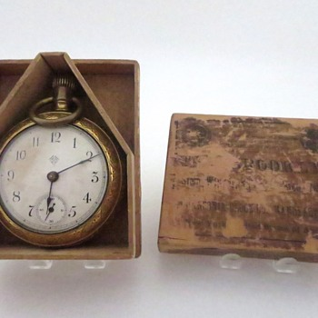 Ansonia Pocket Watch in Wooden Box Part 1 - Pocket Watches