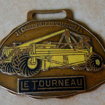 LeTourneau Pull Scraper Certified Operator Enamel Watch Fob - Pocket Watches