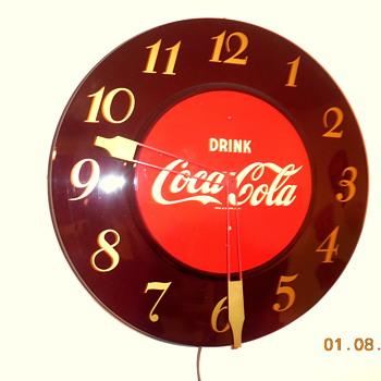 1950's Coca-Cola Clock  - Coca-Cola