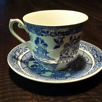 Tea Cup & Saucer - Cartwright & Edwards (England) - China and Dinnerware
