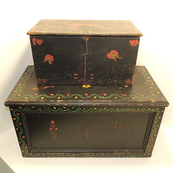 Amish Blanket Chest (20th century) & Amish Document Box (late 19th century)