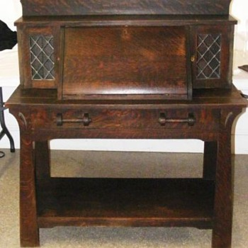 Shop of the Crafters (Cincinnati) Oak Slant Front Desk - Model #279 - Arts and Crafts