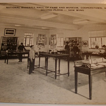 1950's NatiBaseball HOF Museum Artvue Postcard Cooperstown, New York 2nd Floor