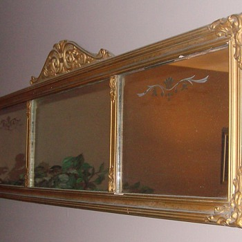 Early 1900&#039;s Triple Pane Glass Mirrow