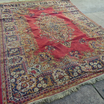 Large Antique Wool Rug Persian? - Rugs and Textiles