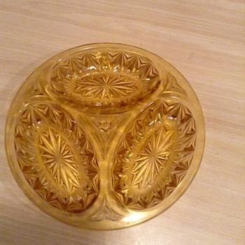 Amber coockie tray - Glassware