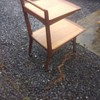 1960s - 1970s Large two tier G Plan type Serving trolley vintage retro era all wood with handle and caster