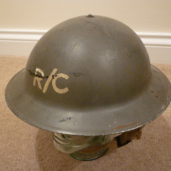 British WWII Rescue/Control Station steel helmet - Military and Wartime