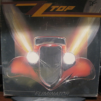 ZZ TOP Eliminator Album and 45rpm