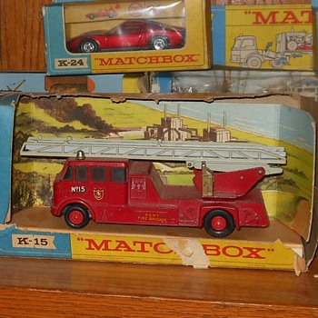 Matchbox K-15 Merryweather Fire Engine - Model Cars