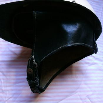 Vintage motorcycle helmet. - Motorcycles