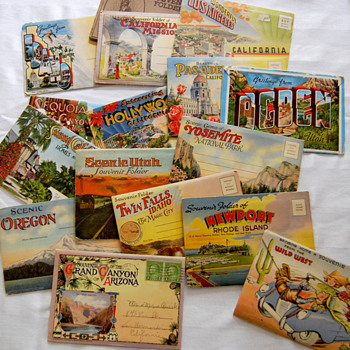 Souvenir Postcard Folders - Postcards