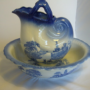 staffordshire flow blue venetian