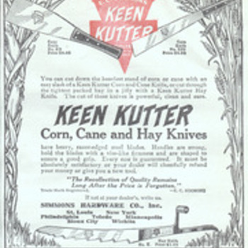 Keen Kutter Farm Knife Ad