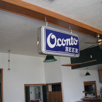 Oconto Beer Sign