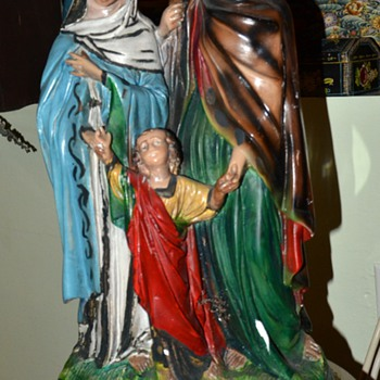 The Holy Family - large plaster sculpture