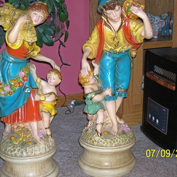 Peasant Statues 36: Tall - Art Pottery