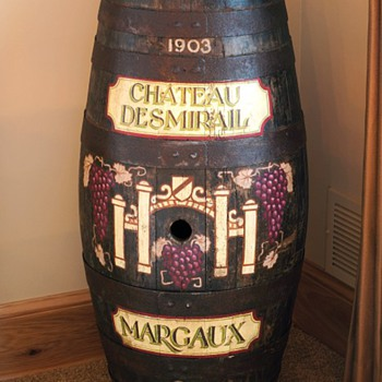 1903 Château Desmirail Celebratory Wine Barrel - Advertising
