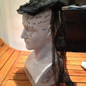 Victorian mourning cap
