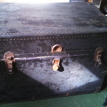 heavy (steamer?) trunk