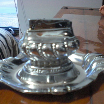 Table lighter with tray - Sterling Silver