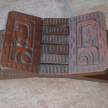 Mayan Carved Stand? - Folk Art