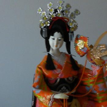 Yaegaki Hime orange kimono with red kabuto