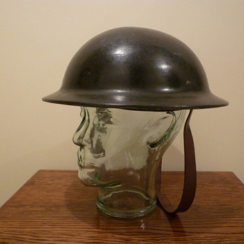 British WWII Plasfort helmet. - Military and Wartime