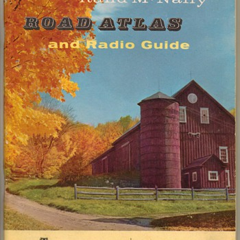 1956 Rand McNally Road Atlas - Paper