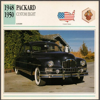 Vintage Car Card - Packard Custom