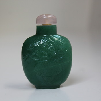 Emerald Green Snuff Bottle - Asian