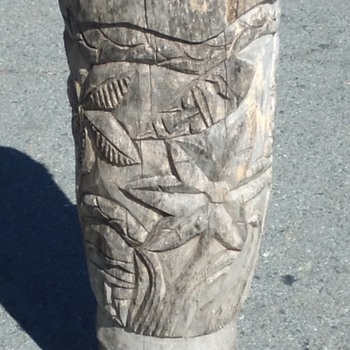 Antique drum? possible tiki.. tribal?