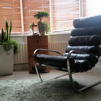Leather Steel Lounge chair 1950s? - Furniture